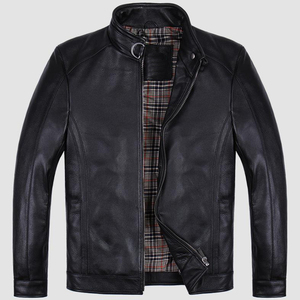 China clothing manufacturer OEM design winter motorcycle leather jacket for man