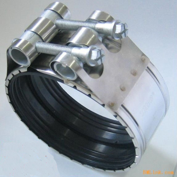 Stainless steel double bolt pipe high pressure rubber