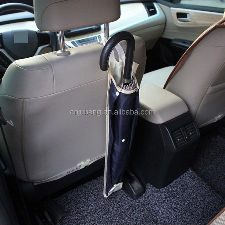 Portaombrelli pieghevole per auto con gancio per sedile posteriore impermeabile