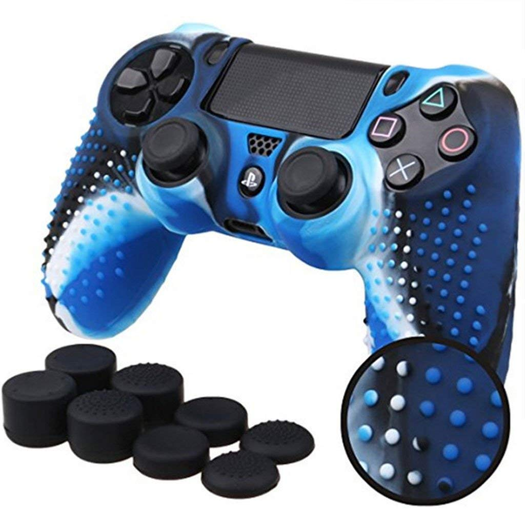 Cheap Blue Dualshock Find Deals On Line At Alibabacom Ds4 New Dual Shock 4 Light Model Get Quotations Feamos Anti Slip Silicone Shell For Ps4 Controller Housing Case Pro With