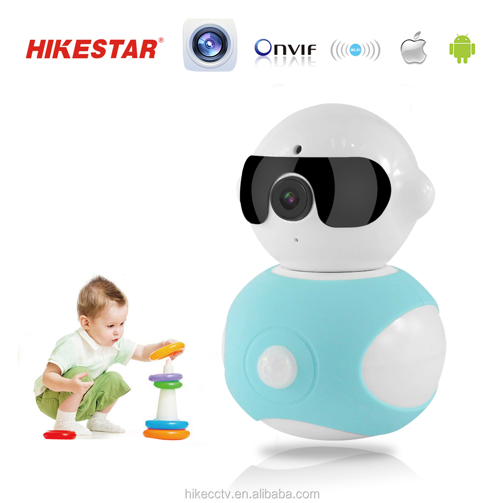 High Quality Plug Play Mini Style Pan / Tilt CCTV Camera 355 Degree Home IP Robot