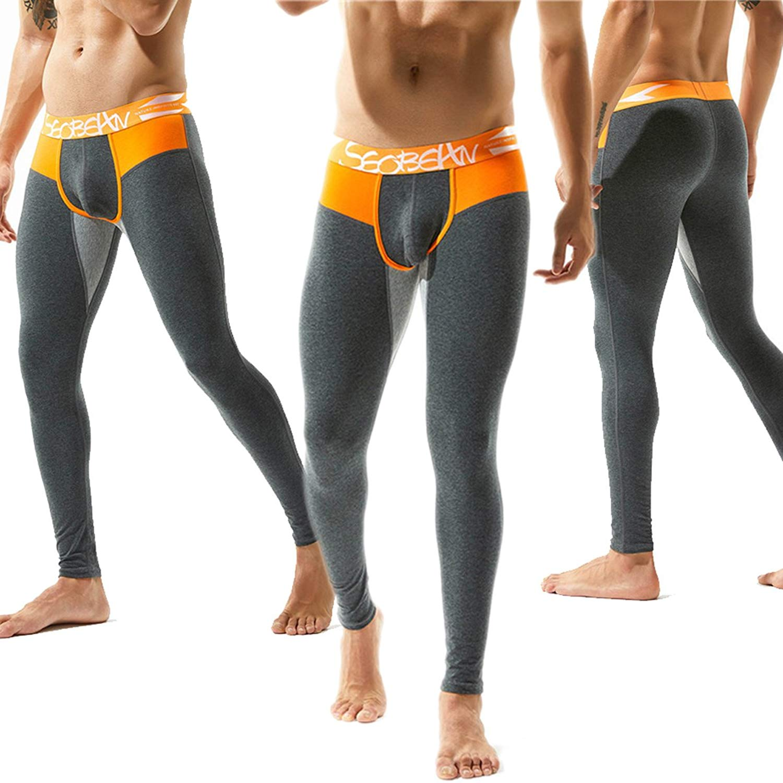 Etecredpow Mens Winter Stretchy Fleece Slim Underwear Warm Long Johns