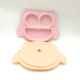Wholesale Mini Size Silicone Baby Placemat Kids Feeding Mat Owl Shape Silicone Mat Plate With Strong Suction for Baby