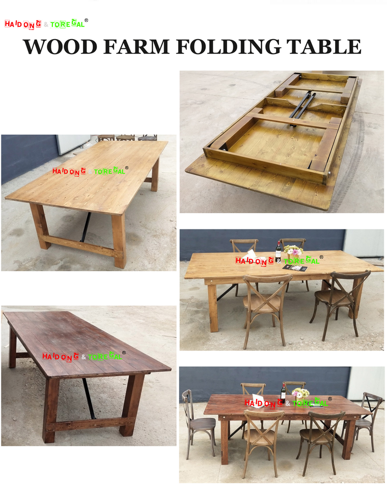 Wood Farm Folding Table