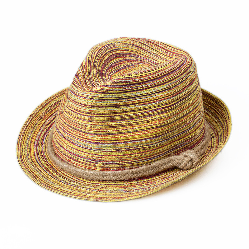 Rainbow Color Stripe Straw Sun Hat Attractive 2015 Summer/Autumn/Spring Cap Women's Sun Hat Appointment/Beach/Travel Accessories