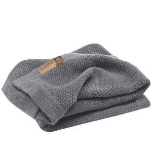 Fashionable 100% polyester wool throw hand knitted blanket for home