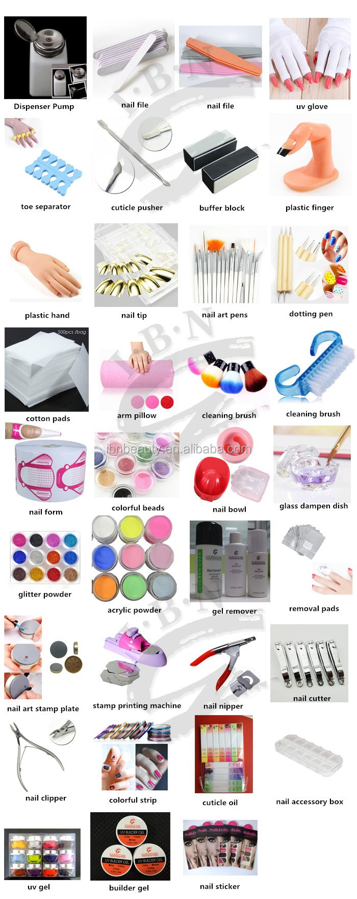 Painting Practice Tool Adjustable Nail Art Model Fake Hand For ...