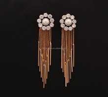 Long tassel popular drop earrings for women party earrings with fine pearl