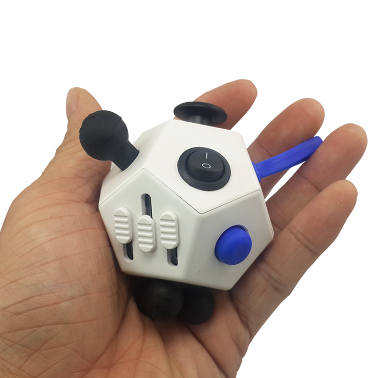 Hand toy anti stress Anxiety 12 sides fidget magic cubes