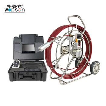 Push rod drain Inspection Camera with meter counter for blocked detection