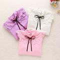 2016 Baby Girls Blouses School Style Children Clothing Girls Long Sleeve lace Princess shirts Turtleneck Girl