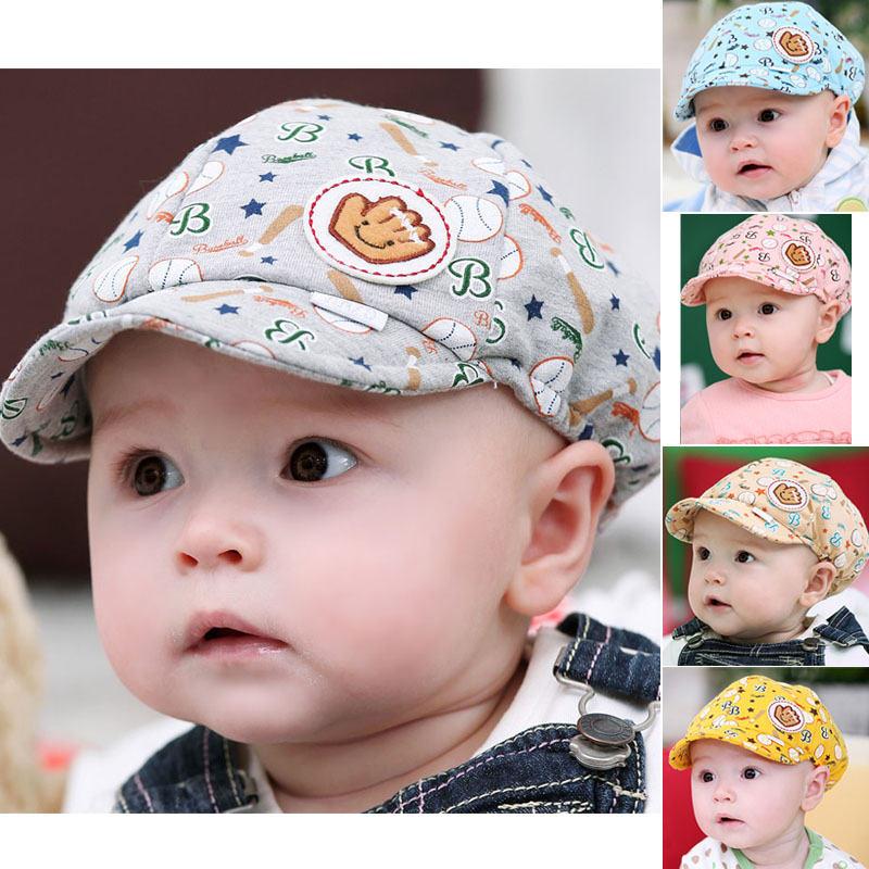 Hot 2016 New Cute Toodler Infant Baby Hat Muts Boy Girl Kids Winter Cotton Berets Baseball