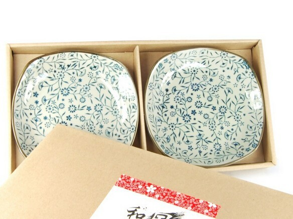 Porcelain Dinnerware Plate Set of 2 pack Japanese Zen Style Dipping Sauce Dishes, for Appetizer, Dessert, Salad, Snack, Sushi, F
