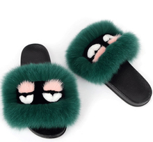 Wholesale monster slippers fur slide customized sandals fur slippers