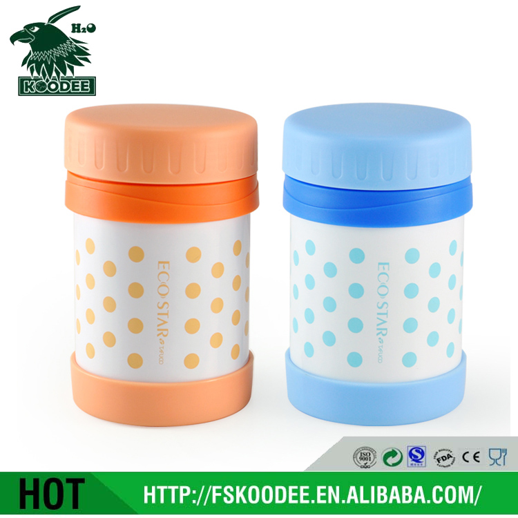 Stainless steel insulated food kettle vacuum thermos pot for baby food