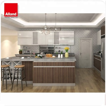 Modern melamine wood furniture imported kitchen cabinet from China project kitchen & Modern Melamine Wood Furniture Imported Kitchen Cabinet From China ...