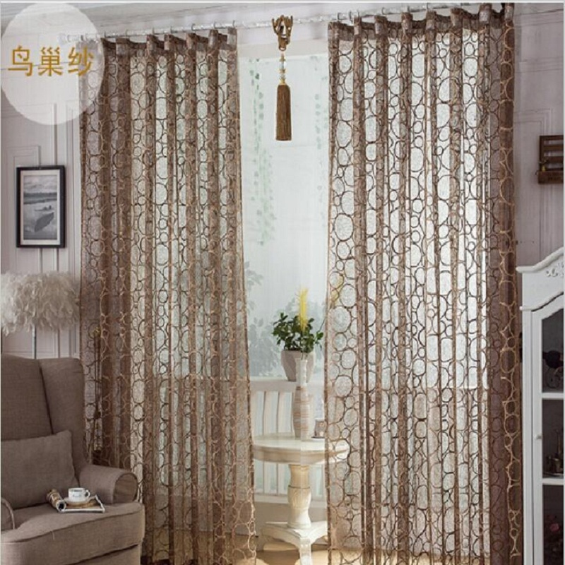 High Quality Birds Nest Pattern Window Screens Decorative