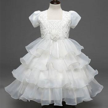 Summer Formal Wear Girls Communion Dresses Puffy Wedding Baby Girl