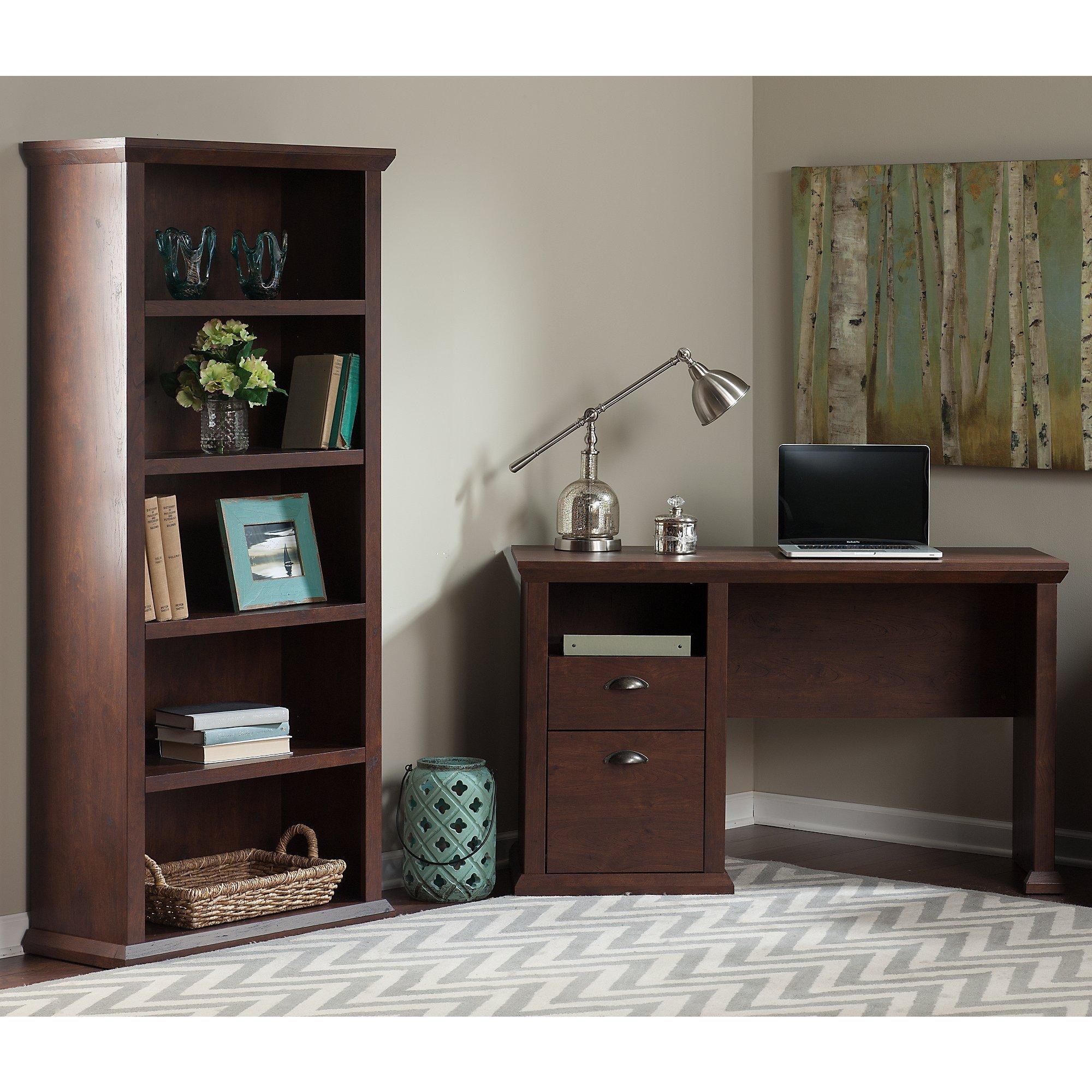 Bush Furniture Yorktown Home Office Desk and Bookcase