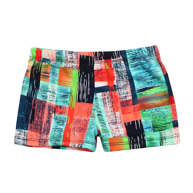 FullBo Anchor Whale Pattern Little Boys Short Swim Trunks Quick Dry Beach Shorts
