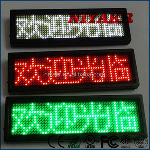 Niyakr Factory Price Programmable Rechargeable Scrolling LED Show Message Name Tag