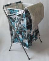 Large printing collapsible X-frame shape Laundry hamper foldable laundry basket