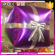 Hot sale indoor decoration christmas inflatable gift box