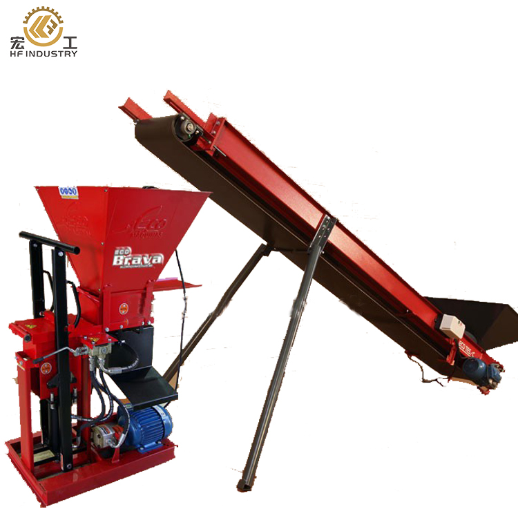 ECO BRAVA Clay Solid Brick Making Machine Semi Automatic Concrete Hollow Block Mold Interlocking Clay Brick Machine
