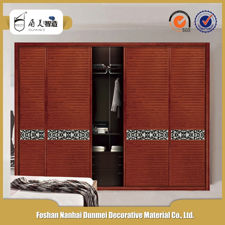 New classic environmental bedroom louvers shutter door for Bedroom wardrobe shutter designs