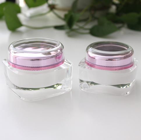 Small 5g 20g 30g cream jar free samples plastic cosmetic container skincare cream jar