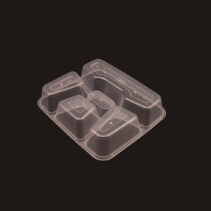 Safe 5-Compartment Small Sealable Plastic Food Container