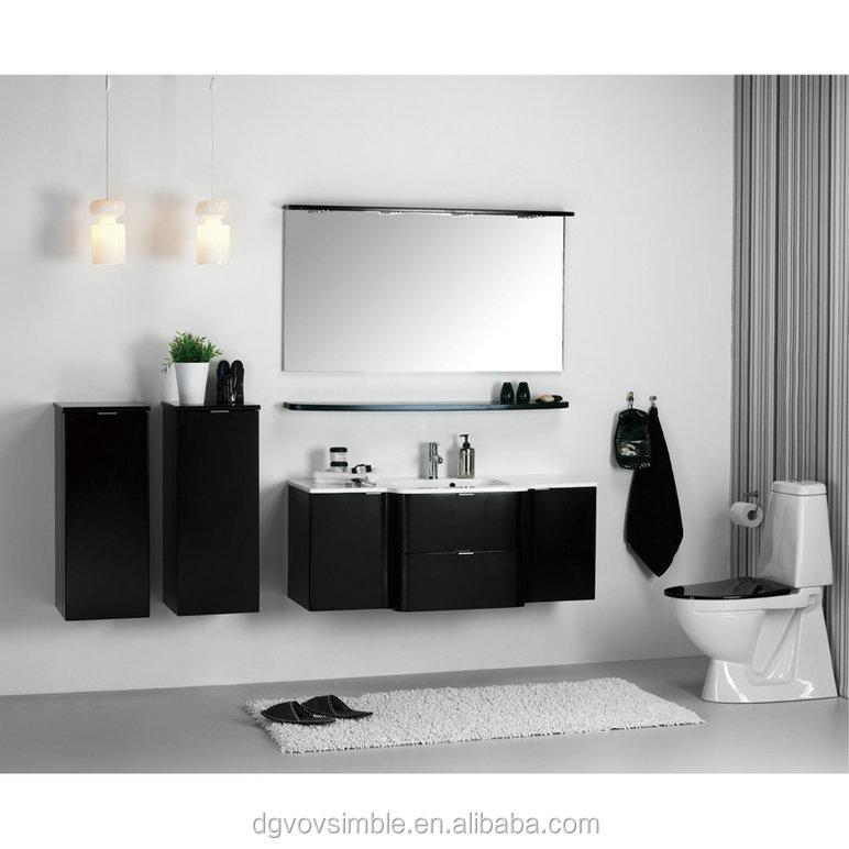 Noro Sweden Glossy White Wall Hung Bathroom Cabinet Set Mirror Bath Vanity