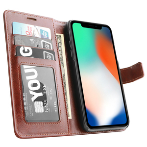 wallet leather phone case for iphone 6Plus 6s 7 8 Plus X