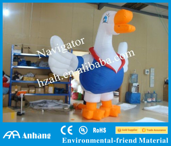 Inflatable Swan Cartoon Immovable Model