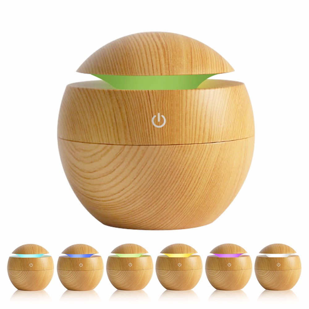 2018 130 ml Mini Wood Grain 초음파 아로마 에센셜 Oil Diffuser