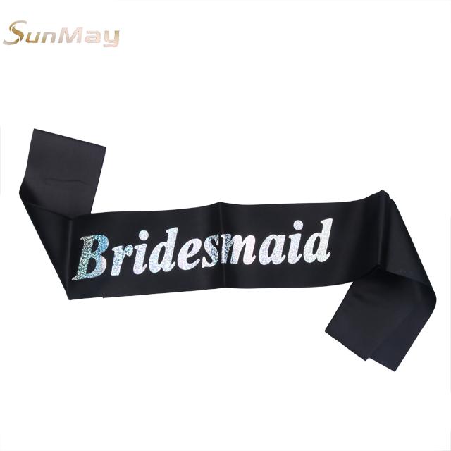 Single party accessories beauty pageant sash bride to be sash bachelorette black party sash