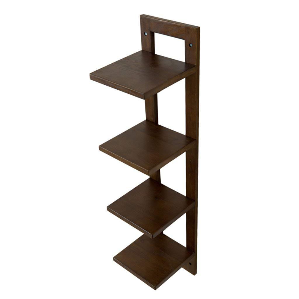 HCJZWJ JCRNJSB Rack, solid wood wall-mounted wall multilayer shelf living room TV wall partition storage rack flower shelf 9020cm Can be stored removable Shelf Shelf Book shelf (Color : #1)