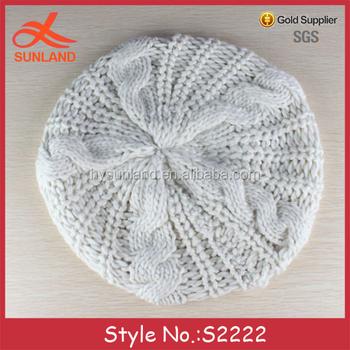 cd24aa5d2ea0e S2222 new autumn winter girls as decorate headwear cheap knitted women  beret hats for sale