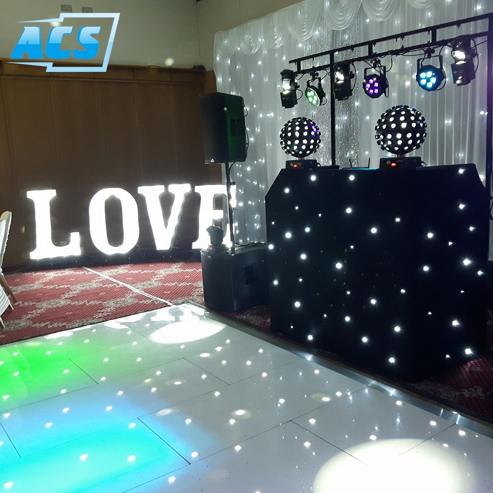 RGBW 2x2ft / 4x2ft led panels for wedding decoration and dancing hall lighting Led starlit dance floor