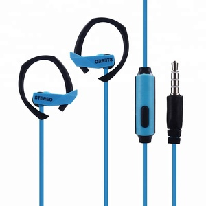 Latest products hot sales cheap price ear hook microphone wired stereo headphone