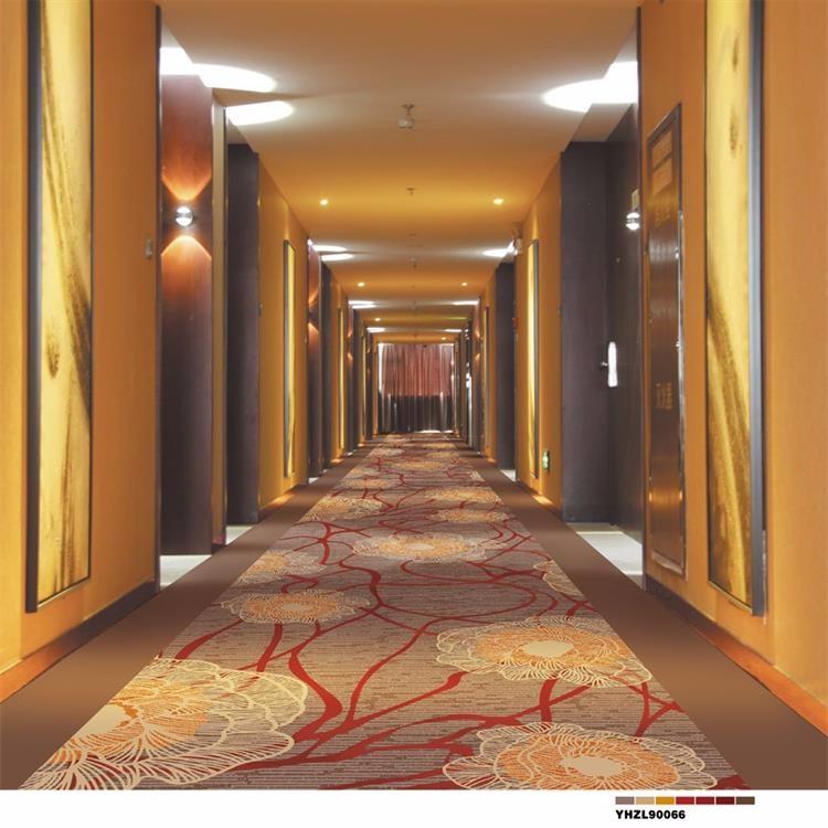 Corridor Design Color: Elegant Soft Color Painted Nylon Hotel Corridor Carpet