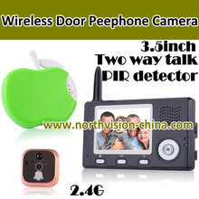 3.5 inch wireless peephole camera recorder with motion detection