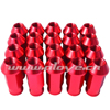 50mm D1 ANODIZED ALUMINUM RED M12XP1.25 WHEEL LUG NUTS