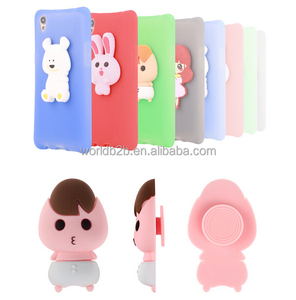 cute cartoon earphone tidy shockproof silicone case for iphone 7/7 plus