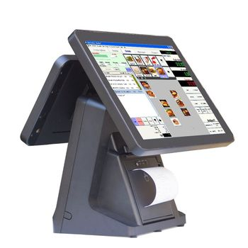 2017 new pos model capacitive touch screen pos system restaurant pos software built-in printer