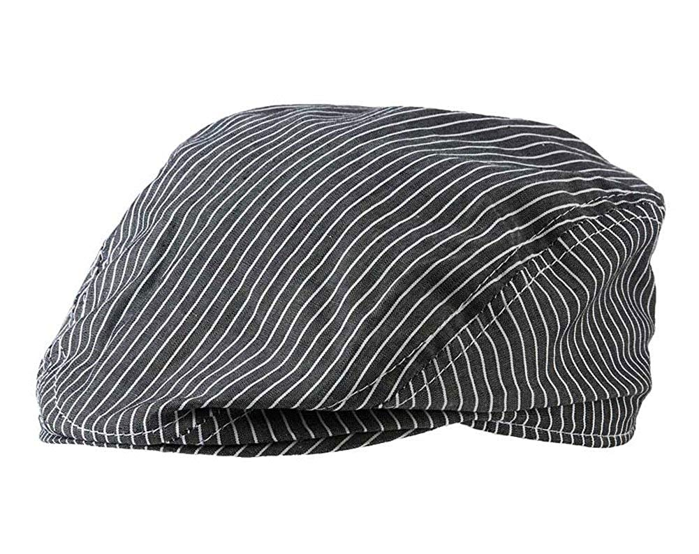 Get Quotations · Baby Boys Dark Gray   White Stripe Golfers Hat (0-12  months) 4185f7ac86e