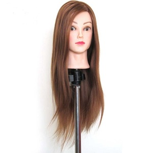2018 New salon 100% human hairdressing training heads practice mannequin head