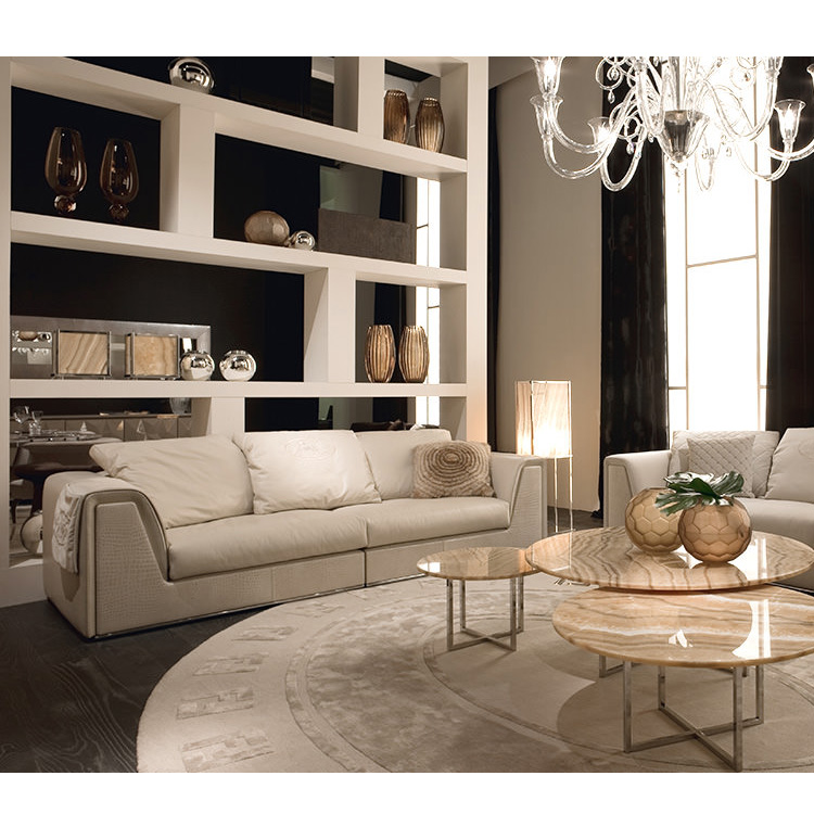 Fd902 Momoda New Famous Italy Fashion Leather Living Room Chesterfield Sofa  Set 1:1 Copy White Leather Big Round Shape Sofa - Buy Italy Famous Sofa ...