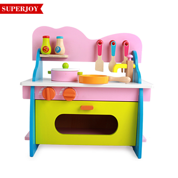 New Design Wooden Kitchen Toy Girl S Wooden Play Kitchen Intelligent