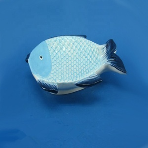 Decorative excellent ceramic fish plate dish for kitchen